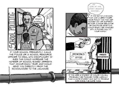 From School-to-Prison Pipeline Zine by Rachel Marie-Crane Williams