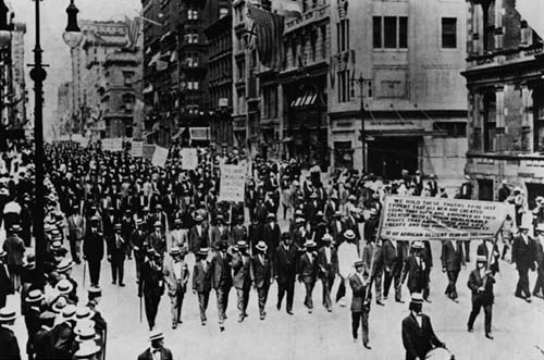 Negro Silent Protest Parade, July 1917