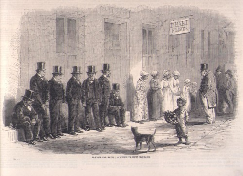 Slaves Awaiting Sale, New Orleans, 1861