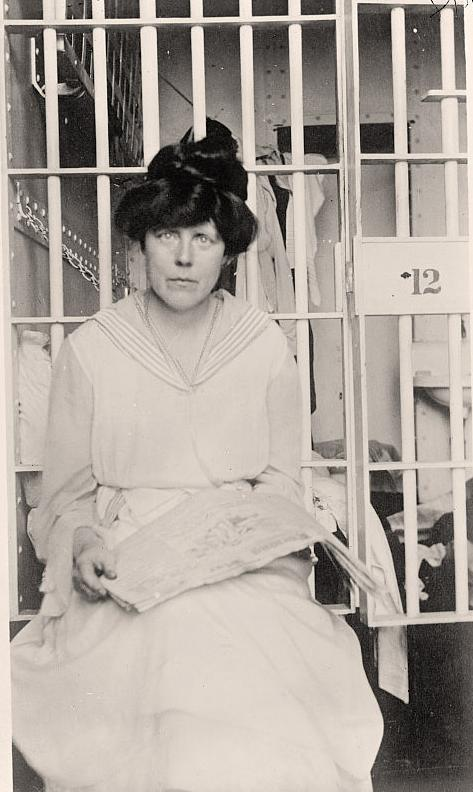 Lucy Burns in Occoquan Workhouse. Harris & Ewing. November 1917.