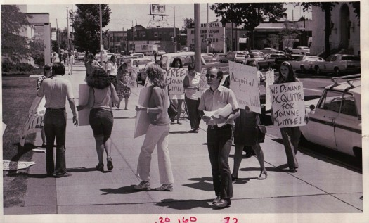 Picketers March in Front of Denver Federal Bldg in Support of Joanne Little (7/15/1975)