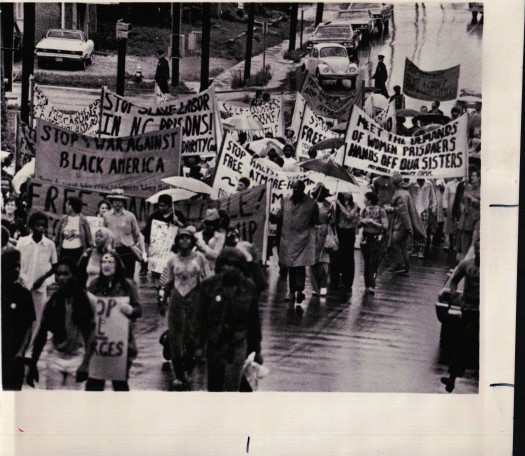 Demonstrators March From the North Carolina Women's Prison To the Little Trial (From My Collection, 7/14/1975)