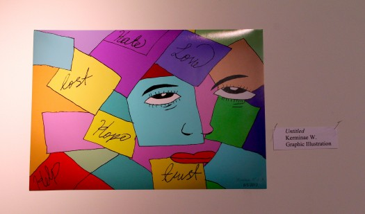 Art by young person incarcerated at JTDC (photo by Rachel Hoffman)