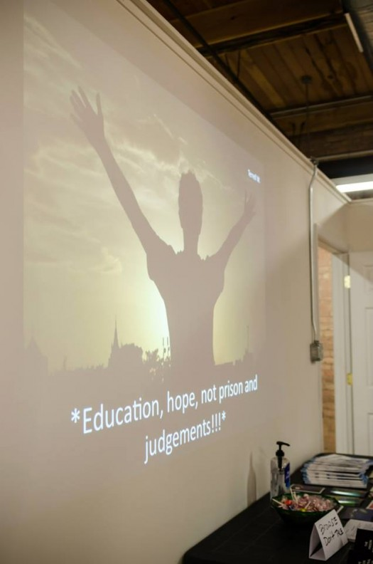 Slide show with images & 6 word stories by incarcerated youth (photo by Sarah Jane Rhee)