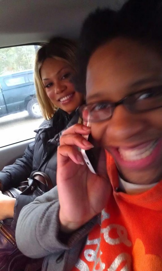 Cece with Laverne Cox leaving prison