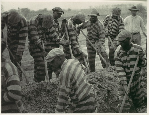 [Prison Work Crew (ca. 9 Members) Digging Trench and 1 Guard] by Doris Ulmann ( Date: 1929–30, printed 1934) - Metropolitan Museum of Art