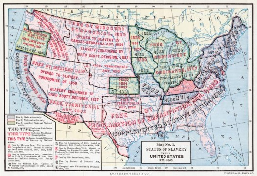 Status of slavery in the United States, 1775-1865. (1893)