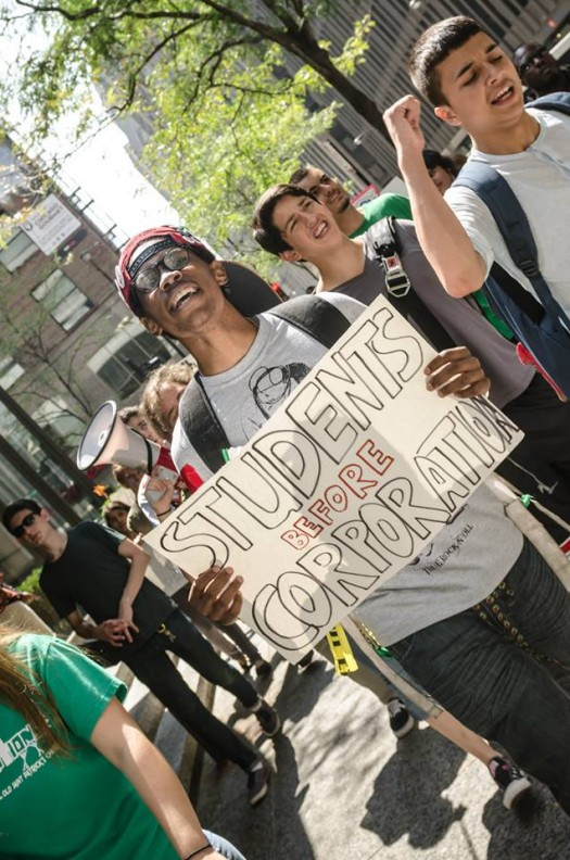 Chicago Student Union March (photo by Sarah Jane Rhee, 8/18/14)