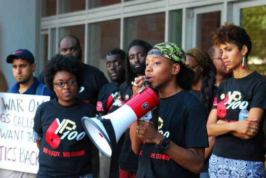 BYP 100 Decriminalizing Black CPD Action (photo by Obari Cartman, 8/26/14)