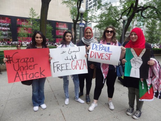 Chicago Stands With Palestine (Photo: Laurie Hasbrook, 7/5/14)