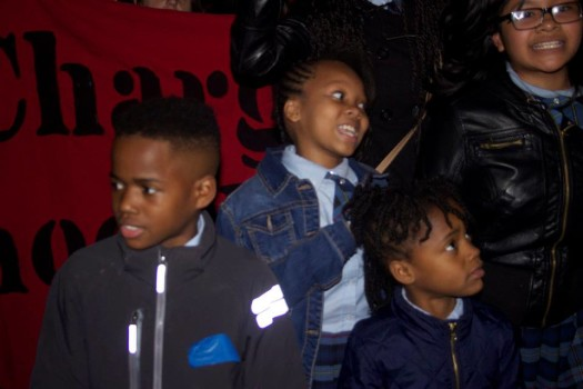 silent protest at 11th police district (photo by We Get Free, 10/22/14)