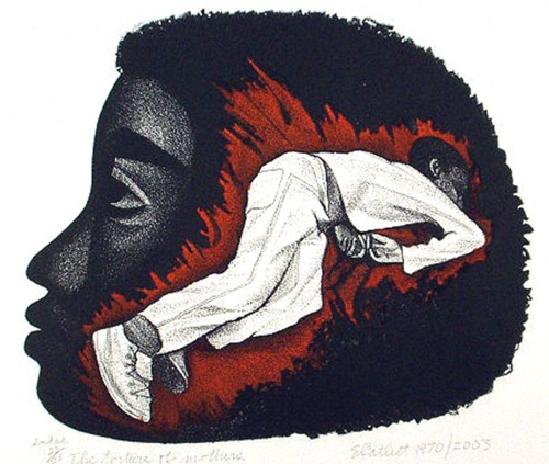 The Torture of Mothers by Elizabeth Catlett (1970)