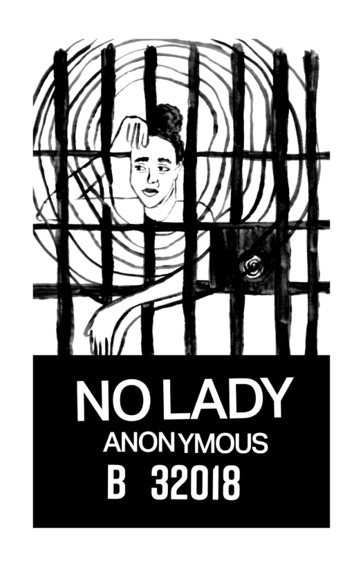zine cover: No Lady Anonymous B 32018